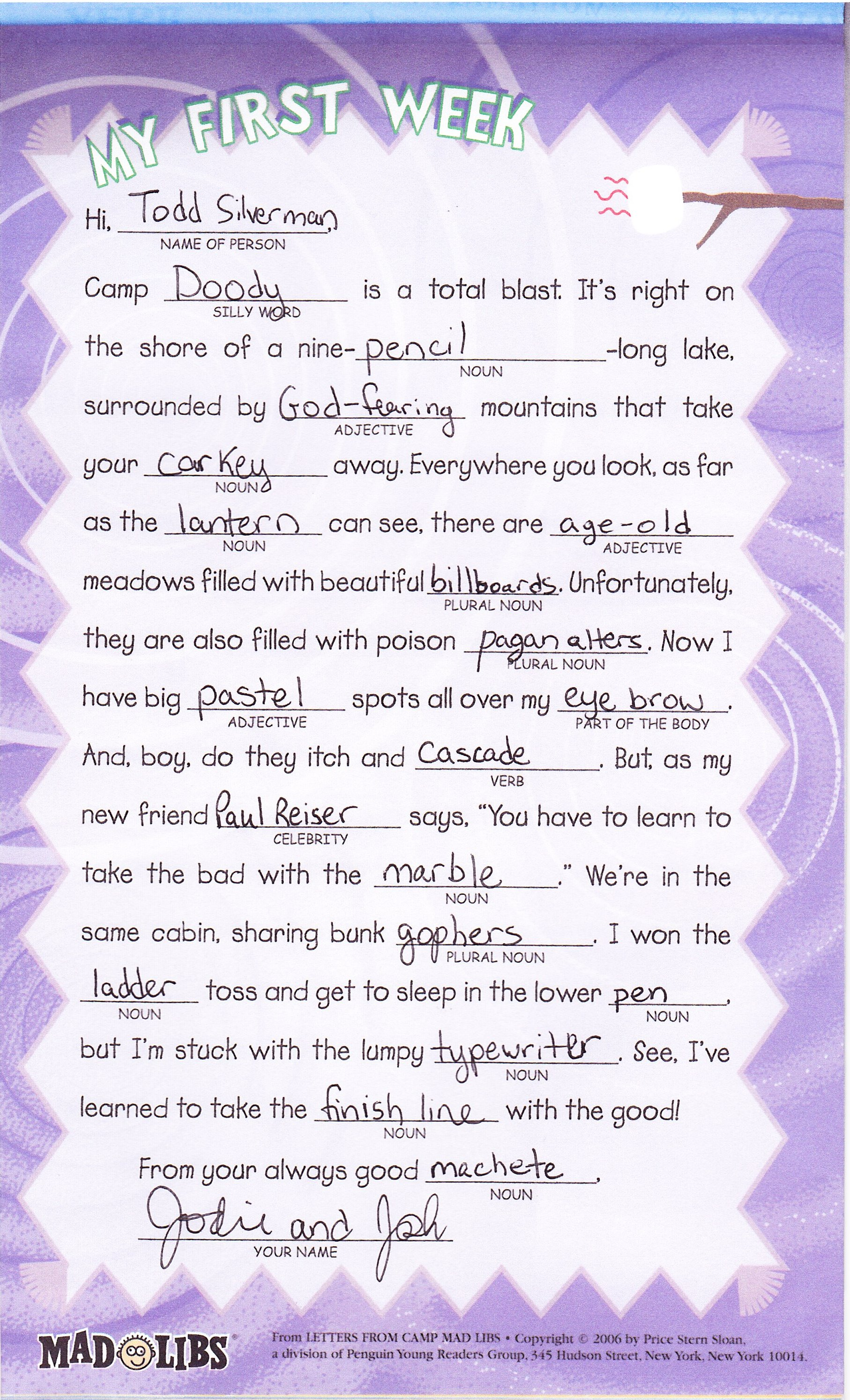 Mad Libs Print Out Sheets Mad Libs About Feelings And Emotions