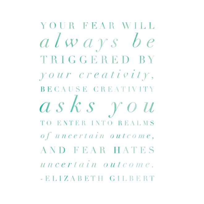 fear and creativity