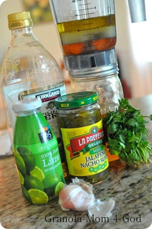 ingrediends for Honey Lime Dressing