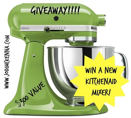 green kitchenaid  mixer