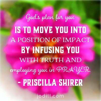 War Room prayer quote by Priscilla -impact