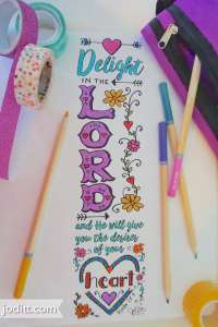 Delight in the Lord bookmark by JoDitt