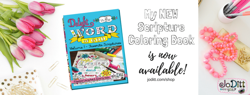 Scripture Coloring Book by JoDitt