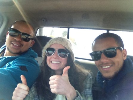 We hitched to pick up our car in Bloemfontein and were off to begin a new part of out journey.