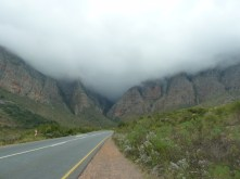 The strangest and most eerie mountains. Winding roads through misty mountains with the occasional family of baboons running across the road.