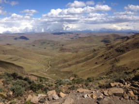 Looking toward South Africa from the bordering national park