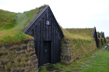 """Icelandic people believe in trolls/""""hidden people"""" and these are the homes they build for them"""