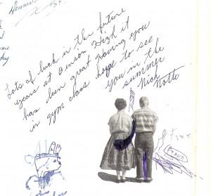 Nick Nolte signature in yearbook