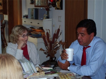 Hope Thelander and Gov. Bill Richardson