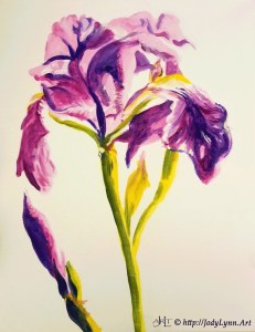 Acrylic Iris Painting Lesson