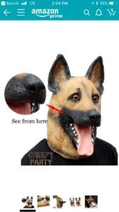 Creepy German Shepherd
