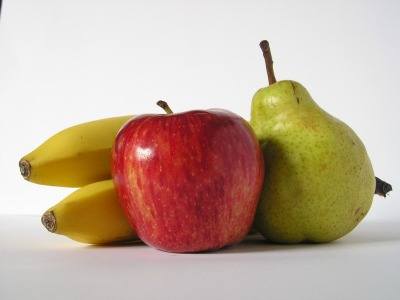 apple, pear, banana
