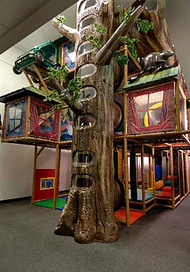 Treehouse themed indoor playground