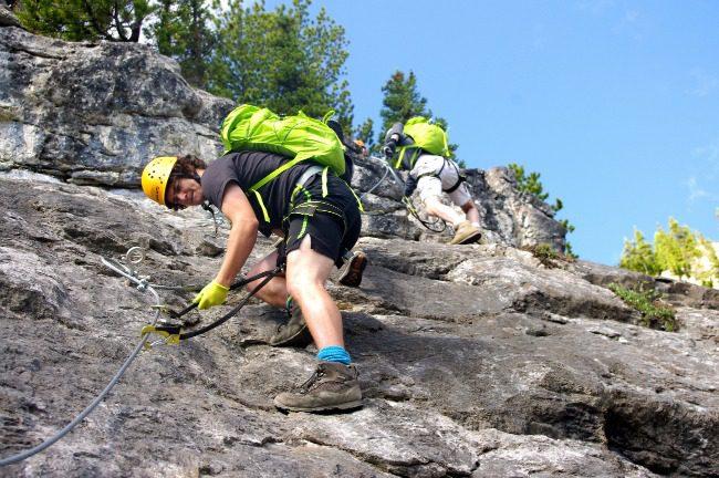 Climbing Mt. Norquay