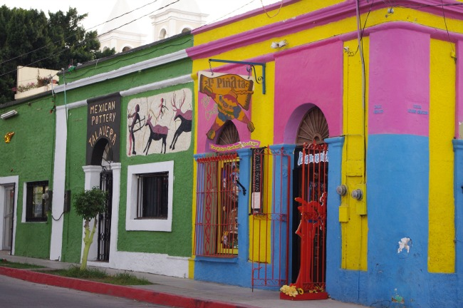 Colourful buildings are laced throughout San Jose's art district.