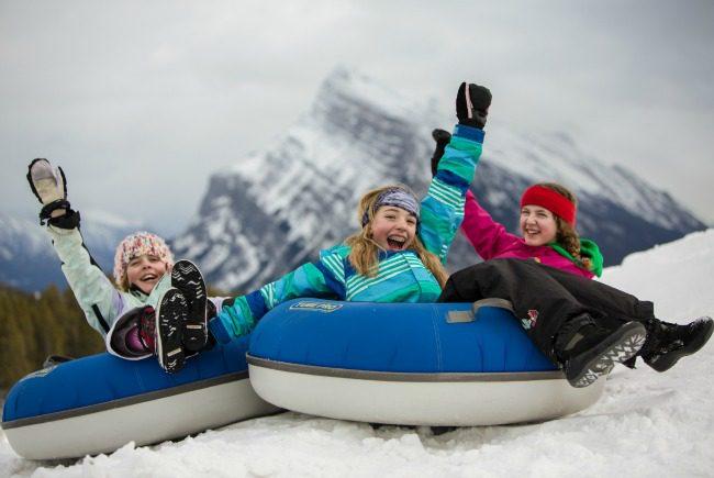 children on inner tube