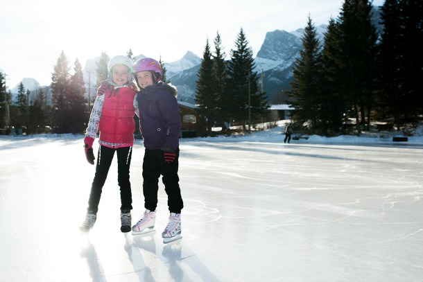 girls skating outdoors
