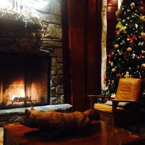 hotel lobby winter