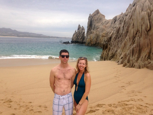 woman and body guard on a beach