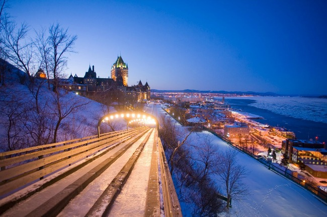 sled ride quebec city