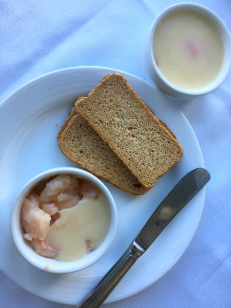 potted shrimp and toast