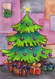 Weihnachtsbaumkarte