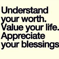 Thought of The Day. Understand Your Worth.