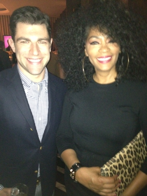 Jody Watley and actor Max Greenfield of 'New Girl'