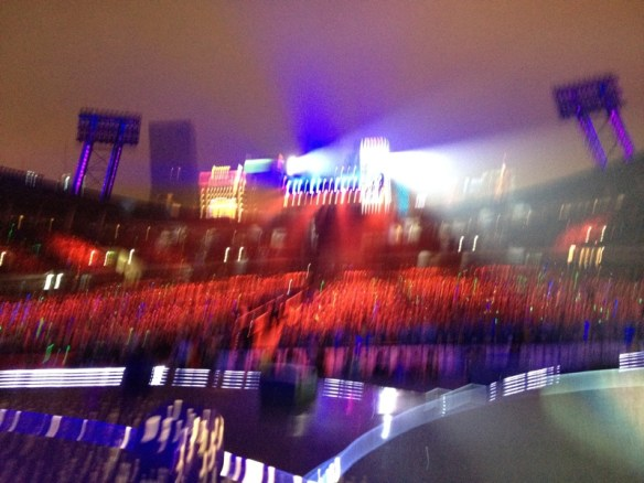 Took a quick photo with my iPhone of the audience while getting set for my performance!