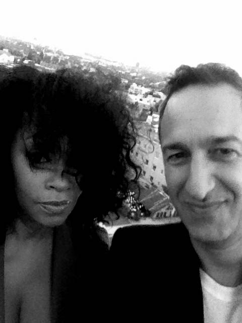 With Christos Garkinos of Decades Inc. rooftop Chateau Marmont.