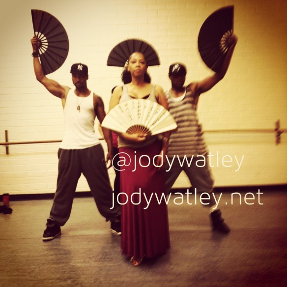 Last minute prep with dancers for Essence Fest All Rights Reserved Jody Watley Music (c) 2013