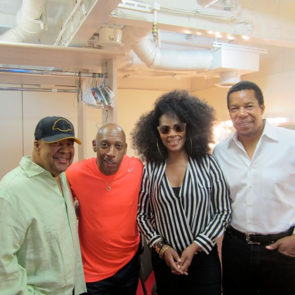George Duke, Jeffrey Osbourne, Jody Watley, Tony Cornelius. Photo (c) 2013 Jody Watley