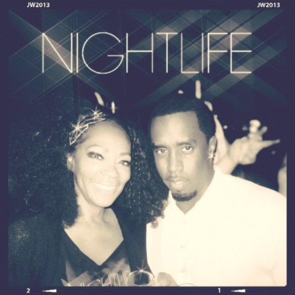 "Jody Watley and Sean ""Diddy"" Combs"