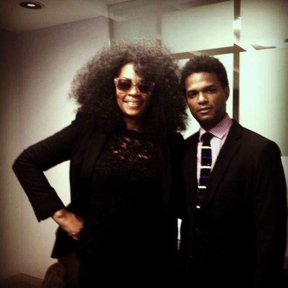 With Arts & Culture Editor Miles Marshall Lewis at Ebony Magazine offices