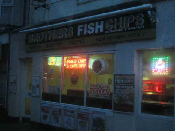 "Scenes - driving to.. ""Brothers Fish and Chips"" caught my eye"