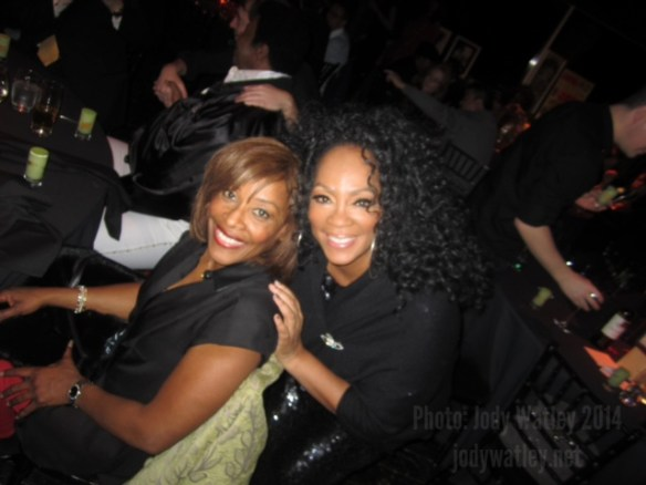 With Gwen Dickey original lead singer of Rose Royce (Wishing On A Star, Carwash, Love Don't Live Here Anymore) at our final show - the intimate high rollers dinner show at Gilgamesh Camden © 2014 Jody Watley