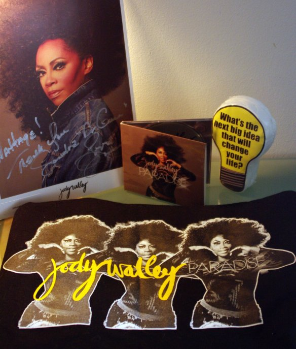 "Sandra Green, Hollywood CA  ""WATTAGE goodies all up in the Sanctuary! Here's to The Queen of Cool... Ms. Jody Watley Mentor, Pen Pal, Dermatologist, Inspiration, Visionary and the only person to envisioned me on Broadway Thanks for the music but most of all for being MS. WATLEY and allowing me to share my out of the box thoughts without calling the white coats."""