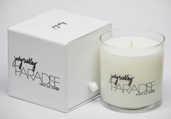 Jody Watley PARADISE Luxury Soy Candle. Logo and Design: Ray Easmon and Jody Watley