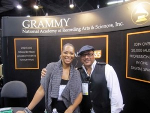 Jody Watley, Howard Hewett 2011 NAMM, Recording Academy Booth
