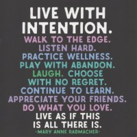 Monday Wattage Thoughts. Live With Intention.