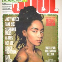 Jody Watley Classic Image of The Day. Blues and Soul Christmas Cover 1991.