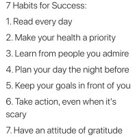 7 Habits for Success. Wattage Thoughts.
