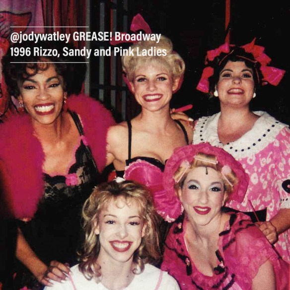 Jody Watley as Rizzo - Backstage 1 with Sandy and Pink Ladies