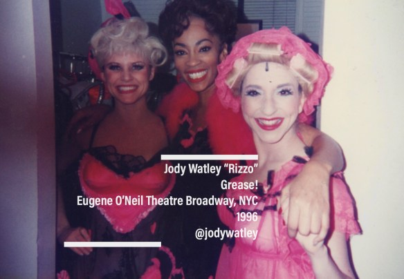 Jody Watley as Rizzo and Pink Ladies Broadway 1996