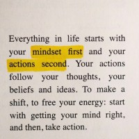 Wattage Thoughts. Mindset and Actions