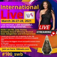 Jody Watley To Be Award Recipient 2021 100 Successful Women In Business Global Trade Chamber.