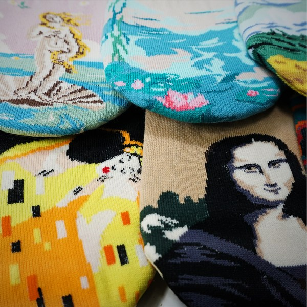 Masterpiece fake socks, Mona Lisa - No-show socks
