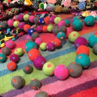 Pom-pom jewellery - dotty about felt pom-poms