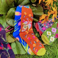 Floral socks - wild flowers to knock your socks off!