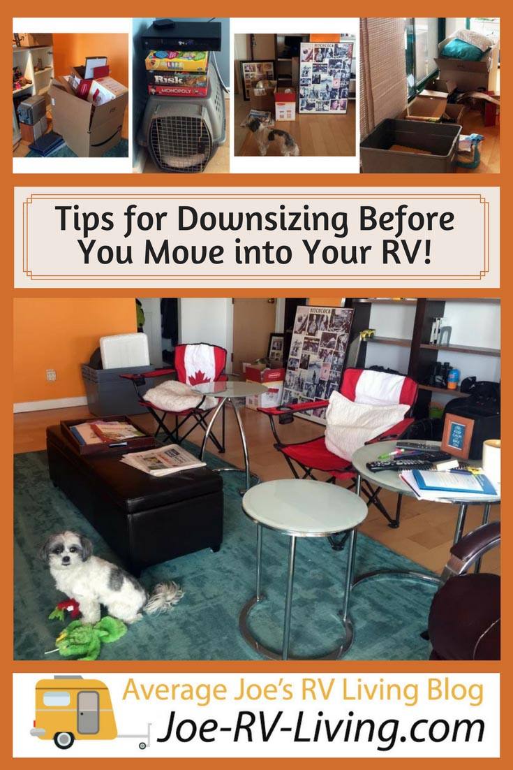 Downsizing so we can move into our Fifth Wheel! Tips for Down-Sizing and Getting Organized